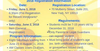 Fun Fun Saturday Registration 2018
